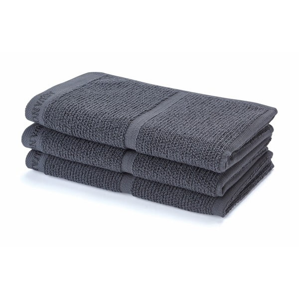 Tmavě šedý ručník Adagio, 30 x 50 cm
