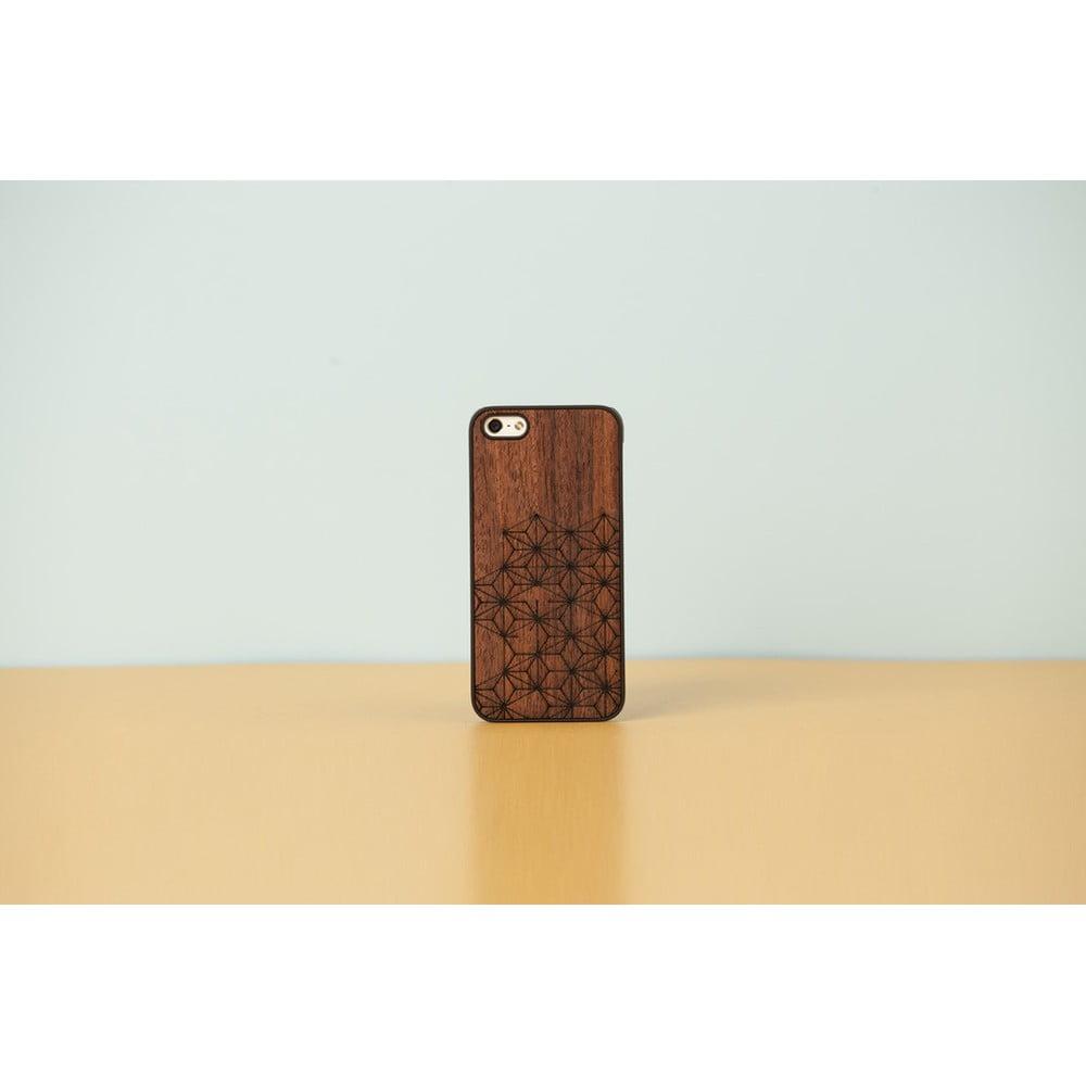 Dřevěný obal na iPhone 5 5S Flake Black  94da4d9b666