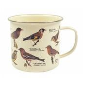 Smaltovaný hrnek s motivem ptáků Gift Republic Garden, 350ml