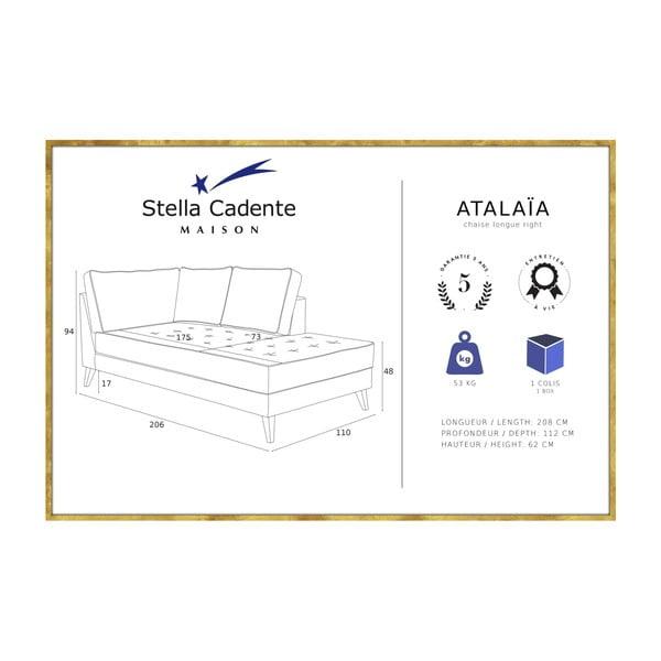 Tyrkysová lenoška s krémovým lemováním Stella Cadente Maison Atalaia, levá strana