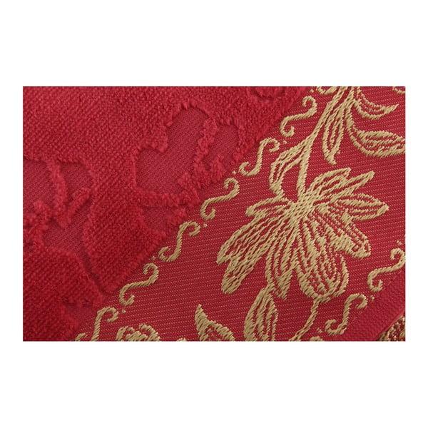 Sada 2 tmavě růžových  ručníků Asu, 50x90cm