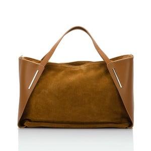 Koňakově hnědá kožená kabelka Giorgio Costa Matt