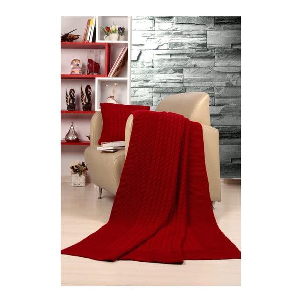 Set pătură și pernă Kate Louise Tricot Sultan, roșu