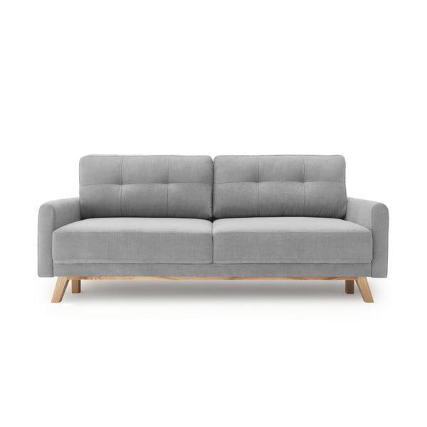 Canapea extensibilă de 3 locuri Bobochic Paris Balio Enjoy, gri