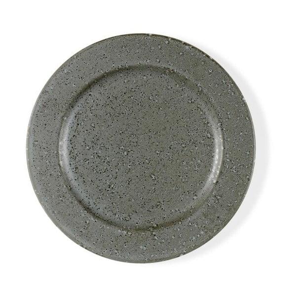Šedý kameninový dezertní talíř Bitz Mensa, průměr 22 cm