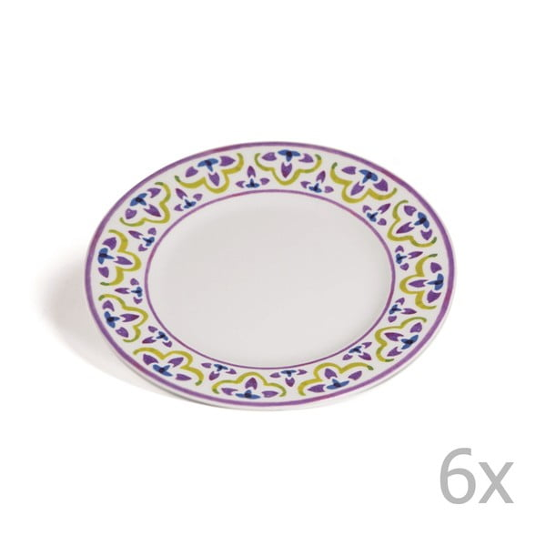 Sada 6 dezertních talířů Toscana Cortona, 21.5 cm