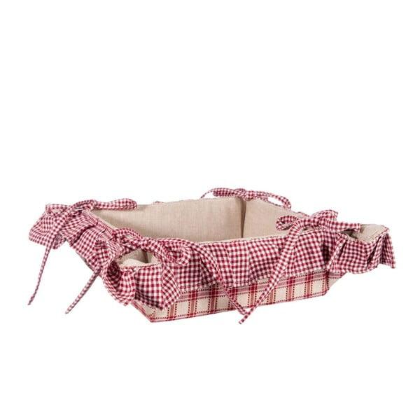 Košík na pečivo Syrah, béžová/červená