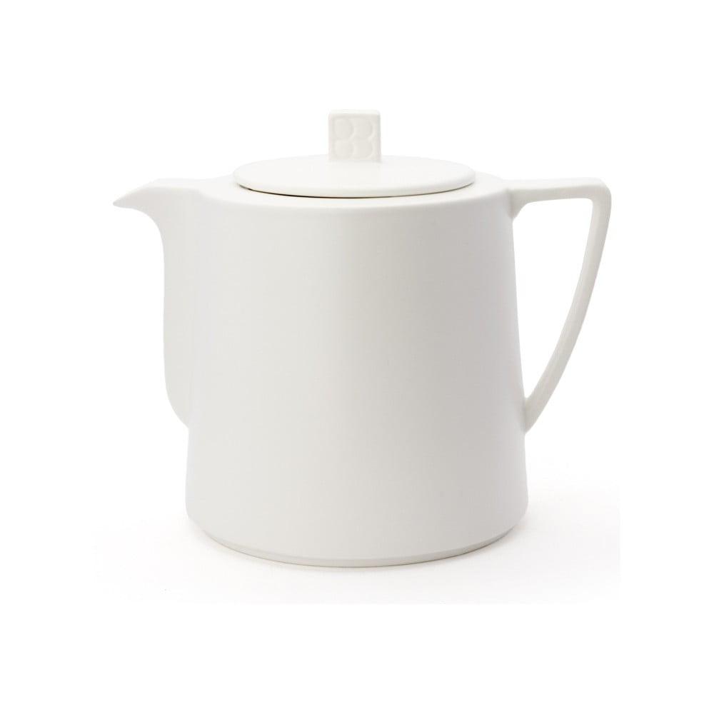 Bílá keramická konvice se sítkem na sypaný čaj Bredemeijer Lund, 1,5 l Bredemeijer