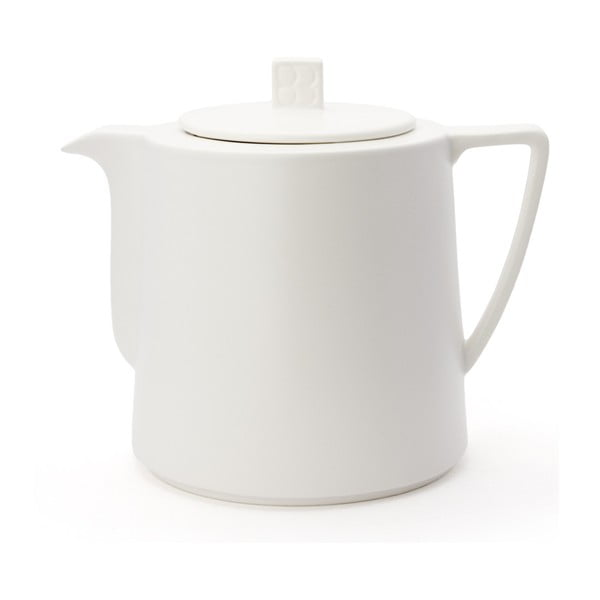 Bílá konvice se sítkem na sypaný čaj Bredemeijer Lund, 1,5 l