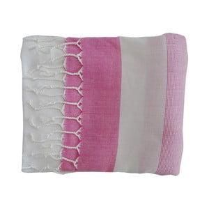 Růžová ručně tkaná osuška z prémiové bavlny Homemania Gokku Hammam,100x180 cm