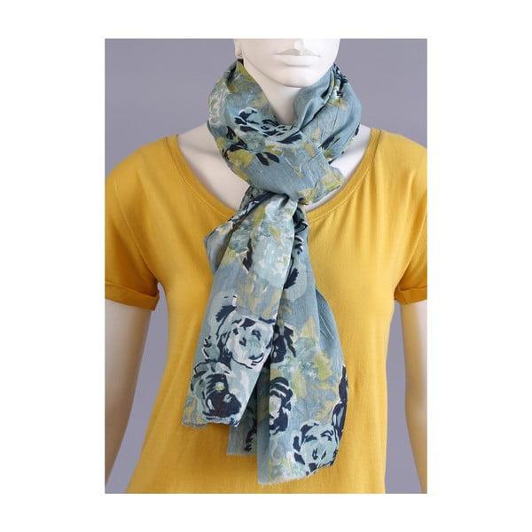 Rozkvetlý šátek modrý