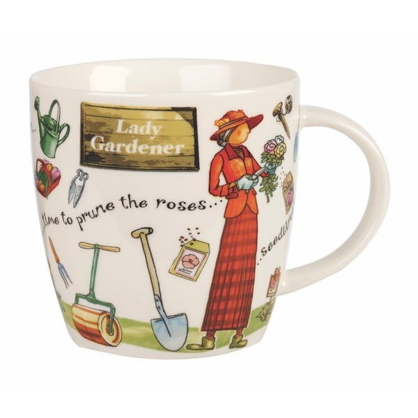 Hrnček z kostného porcelánu Churchill China At Your Leisure Lady Gardener, 400 ml