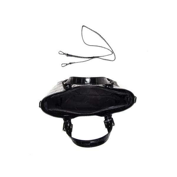 Černá kožená kabelka Renata Corsi 635