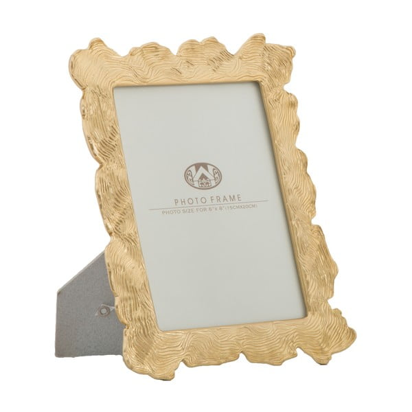 Hullám motívumos aranyszínű fényképkeret, 21,5 x 27 cm - Mauro Ferretti