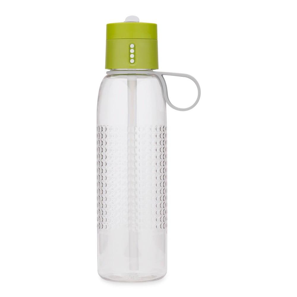 Zelená sportovní láhev s počítadlem plnění Joseph Joseph Dot Active, 750 ml