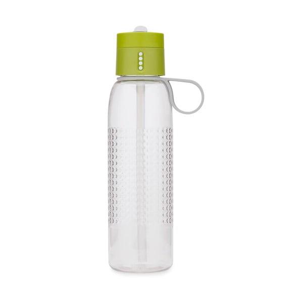 Zelená športová fľaša s počítadlom plnenia Josoph Josoph Dot Active, 750 ml