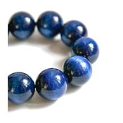 Modrý dřevěný náramek Ko–ra–le Bubbles