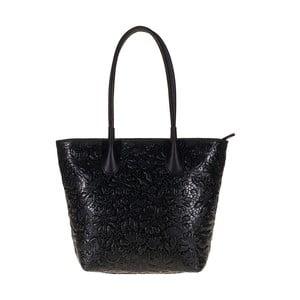 Černá kožená kabelka Giulia Bags Viola