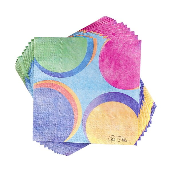 Zestaw 20 papierowych serwetek GiviItalia Panarea, 33x33 cm