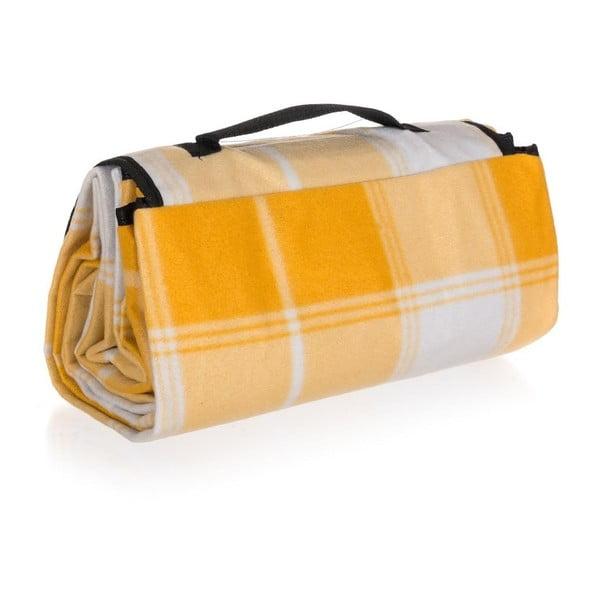 Kempingová deka Discovery, 140x170 cm, žlutá