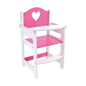 Růžová dětská židlička pro panenky Legler