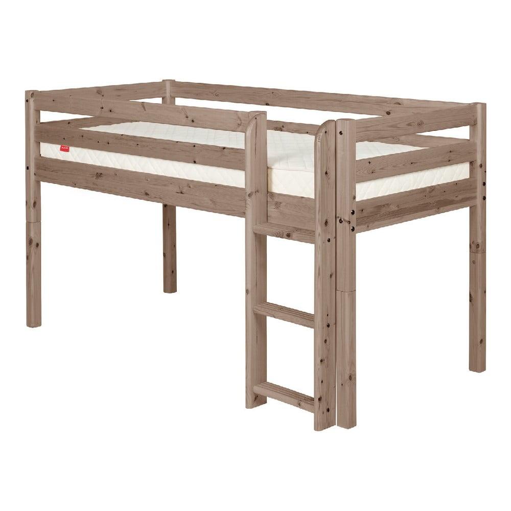 Produktové foto Hnědá středně vysoká dětská postel z borovicového dřeva Flexa Classic, 90x200cm