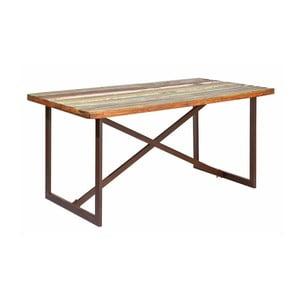 Masă dining din lemn masiv 13Casa Industry, lungime 160 cm