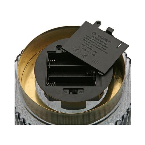 Šedá skleněná olejová LED lampa Versa Relax, ⌀ 15 cm