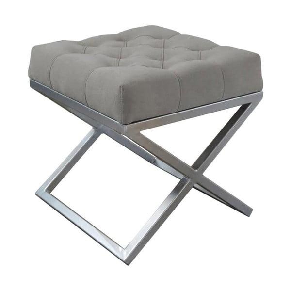 Sivá lavica JohnsonStyle Awilla, 45 x 45 cm
