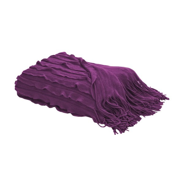 Pléd s třásněmi 127x152 cm, fialová