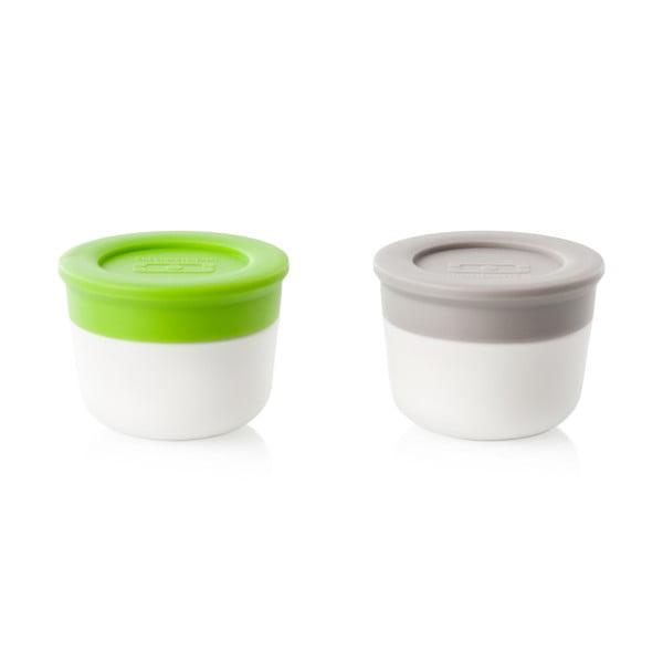 Sada dvou omáčníků Monbento,zelený a šedý