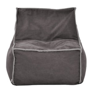 Hnědošedý modulový sedací vak se šedým lemem Poufomania Funky