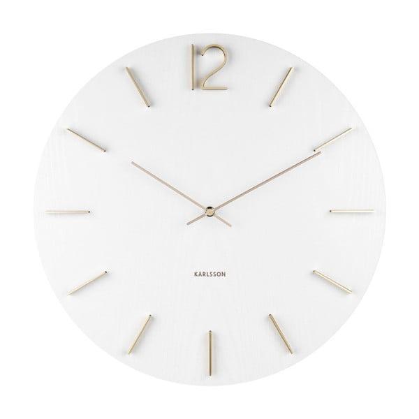 Ceas de perete Karlsson Meek, ⌀ 50 cm, alb