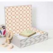 Úložná krabice s poklopem Caroline Gardner Hearts