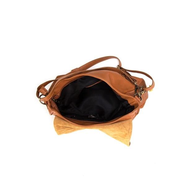 Kožená kabelka Luisa Vannini 2093 Cognac