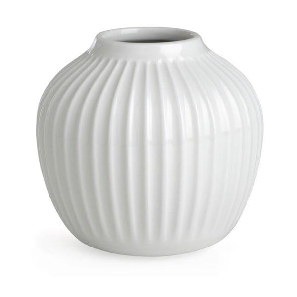 Bílá kameninová váza Kähler Design Hammershoi,výška 12,5 cm