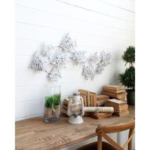 Nástěnná dekorace Fish Pannel White Antique
