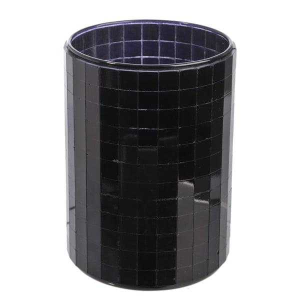 Svícen Mirror Black, 9,3x12,5 cm