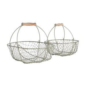 Sada kovových košíků Wirework, 2 ks