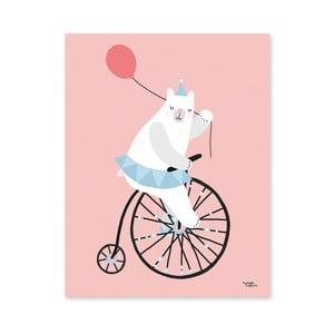 Poster Michelle Carlslund Cycling Bear, 30 x 40 cm