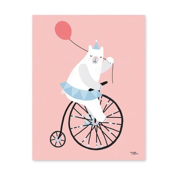 Plakát Michelle Carlslund Cycling Bear, 50x70cm