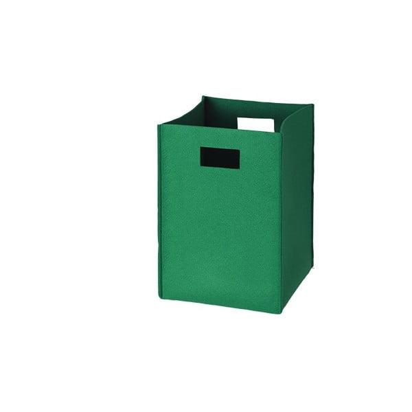 Plstěná krabice 36x25 cm, zelená