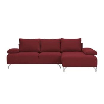 Canapea colţar Windsor & Co Sofas Virgo partea dreaptă roşu