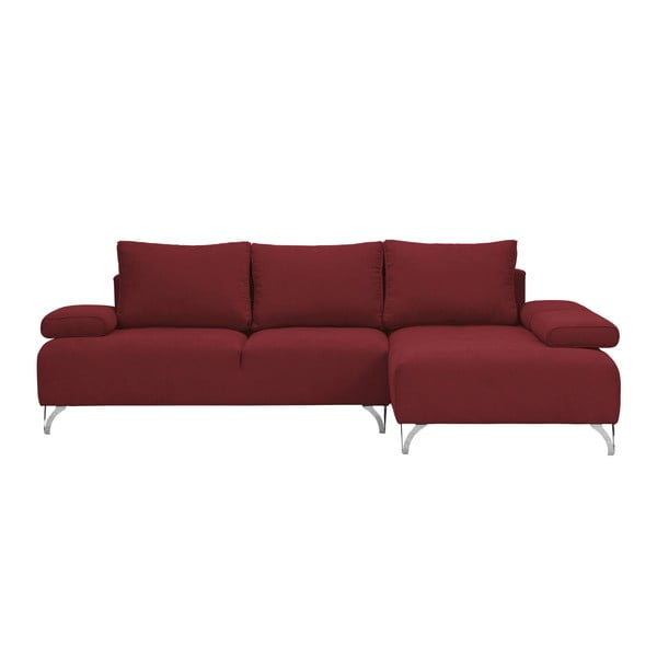Červená rohová rozkládací pohovka Windsor & Co Sofas Virgo, pravý roh