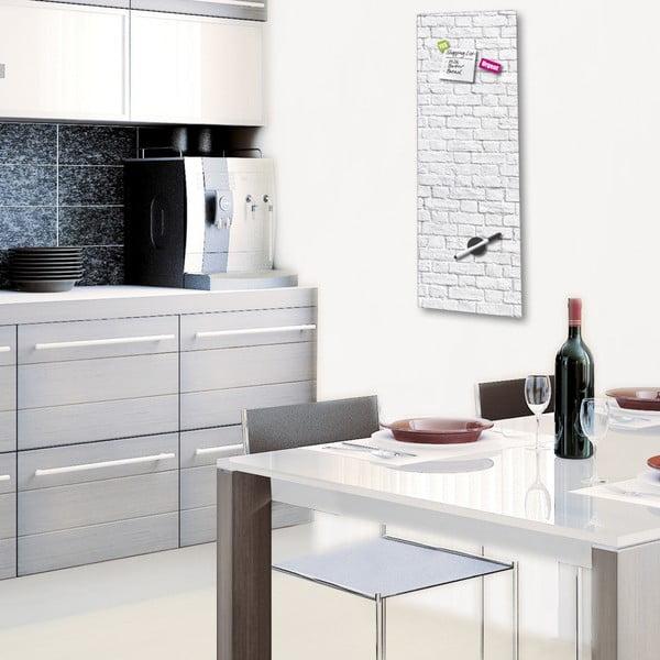 Magnetická tabule Eurographic White Brick, 30x80cm