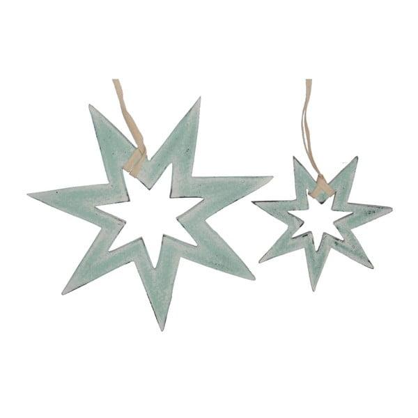 Sada 2 závěsných dekorací Hanging Stars