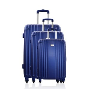 Sada 3 cestovních zavazadel Valises Avec Blue