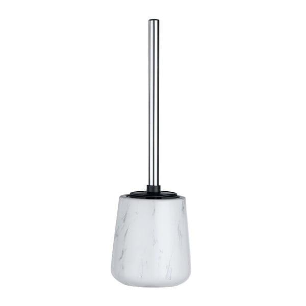 Biała ceramiczna szczotka do WC Wenko Adrada