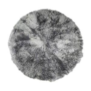 Covor din blană  Rundo, ⌀ 150 cm, gri