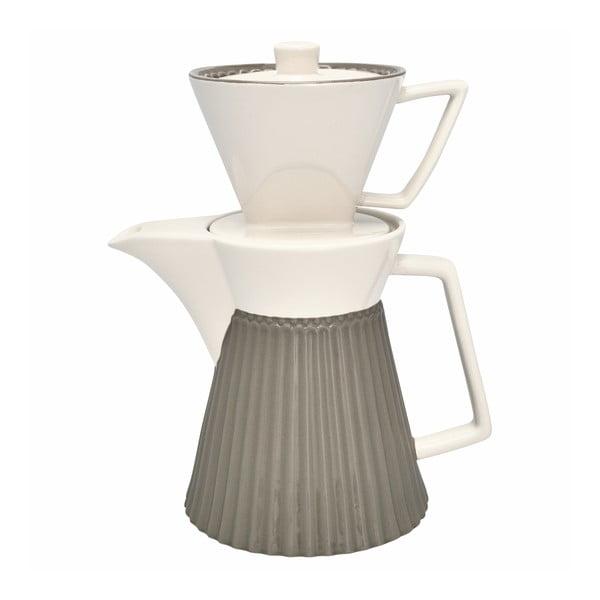 Ibric cafea cu filtru Green Gate Alice, ceramică, gri